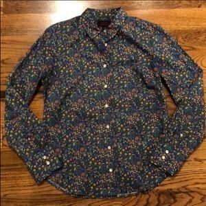 J. Crew Liberty Print Shirt, Size 8
